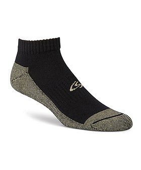 Copper Sole Men's 4-Pack Ankle Socks