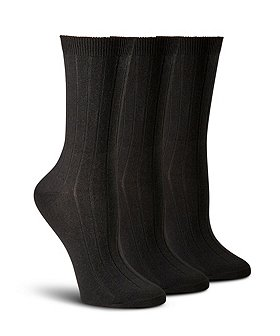 Denver Hayes Women's 3-Pack Rib Casual Sock