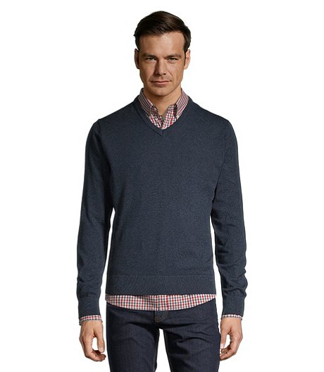 Men's Soft Cotton V Neck Sweater