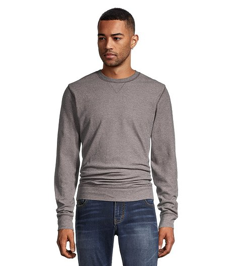 Men's Twill Texture Knit Crew Neck Top