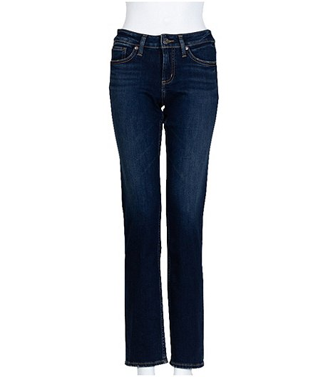 Women's Avery Curvy Fit High Rise Straight Leg Jeans - Dark Indigo