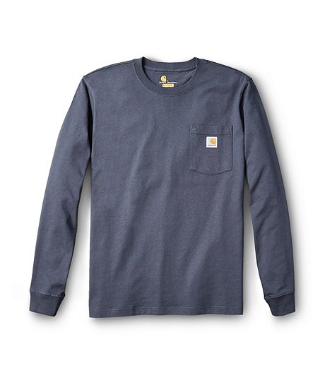 Men's Bluestone Long Sleeve Pocket Logo Graphic T-Shirt