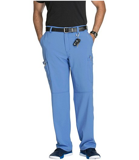 Men's Fly Front Scrub Pants - Tall