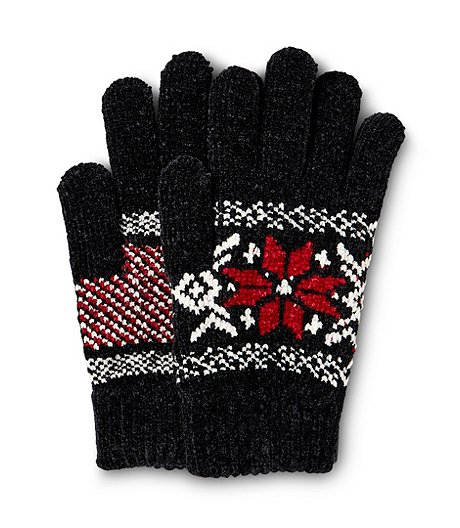 Women's Extra Soft Snowflake Gloves