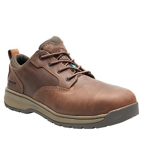 Men's Montario Aluminum Toe Composite Plate SD Oxford Safety Work Shoes Dark Brown - ONLINE ONLY