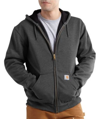 Men's Carhartt Rutland Thermal-Lined Hooded Zip-Front Sweatshirt Carbon Heather 3 Extra Large / Regular