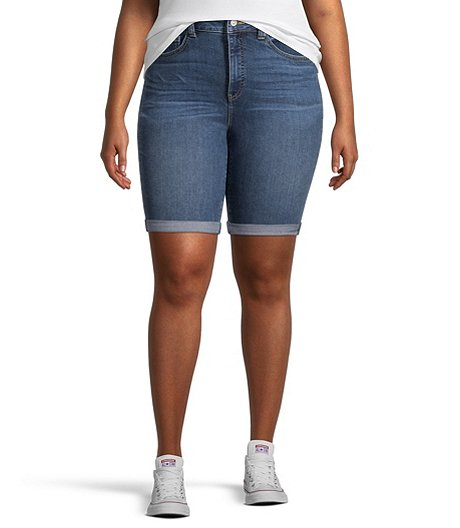 Women's High Rise  Bermuda Shorts