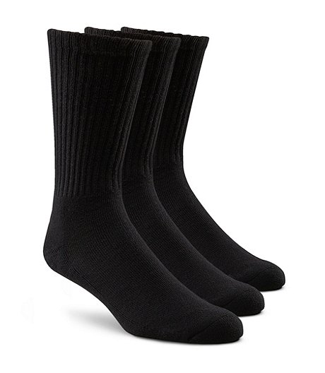 Men's 3-Pack Extralong Crew Socks - King Size