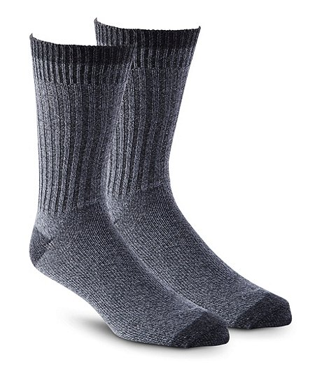 Dakota Men's 2-Pack Cotton/Poly Blend Socks