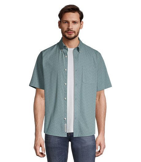 Men's Short Sleeve Casual Shirt - Classic Fit