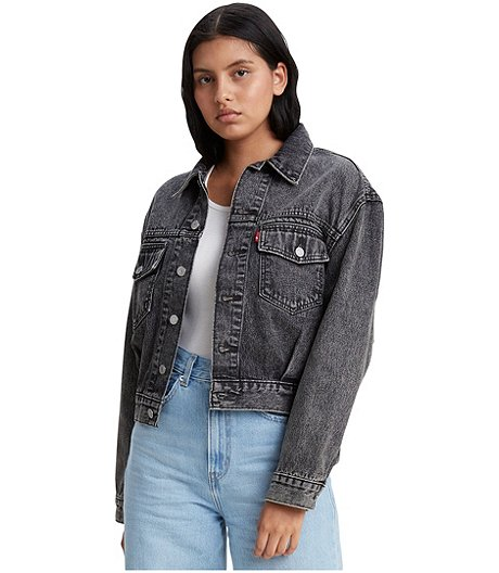 Women's Oversized Utility Trucker Jacket