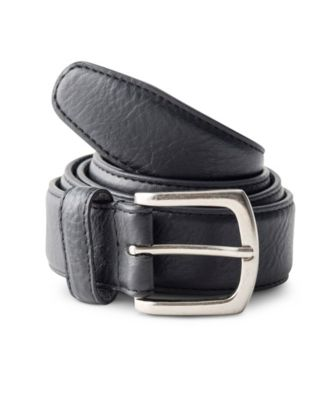 Men's Denver Hayes Milled Cow Leather Sewn Belt BLACK