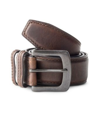 Men's Denver Hayes 38MM Padded Oil Tan Belt Brown