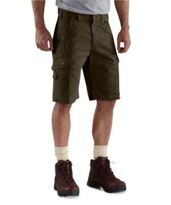 Men's Carhartt Rip-Stop Work Shorts Dark Coffee