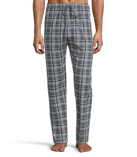 Men's Jersey Plaid Lounge Pants