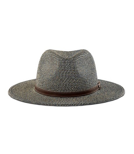 Women's Straw Hat With Leather Trim