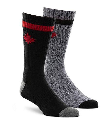 Men's 2-Pack Canadiana Crew Sock
