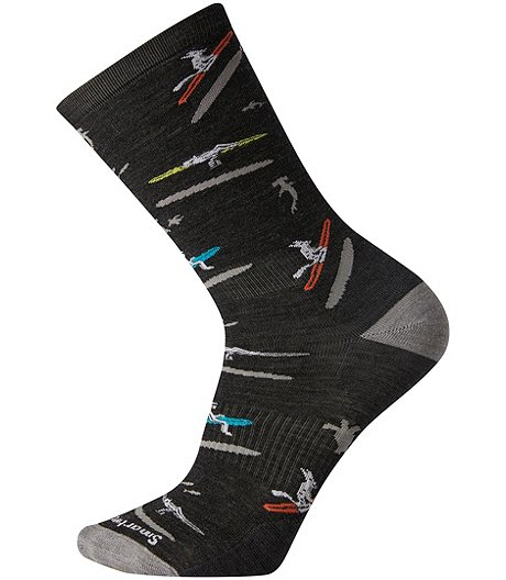 Men's Layered Merino Blend Casual Crew Sock
