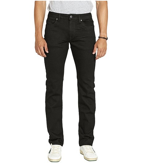 Men's Six Straight Stretch Black Jeans