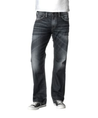 Men's Silver® Jeans Co. Zac Relaxed Fit Straight Leg Jeans Dark Wash 32