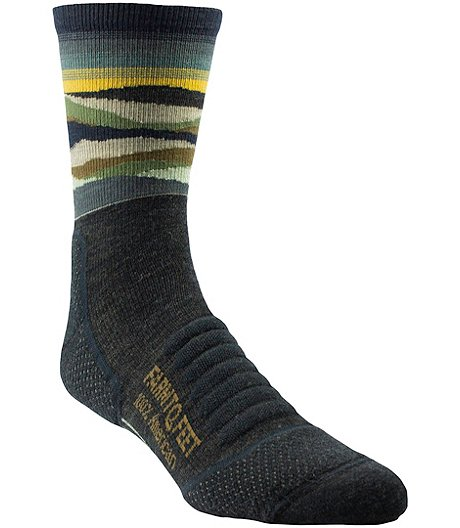 Men's Max Patsch Trail Light Targeted Cushion 3/4 Crew Socks