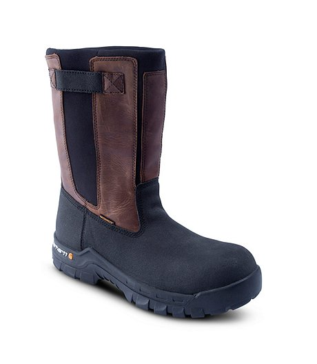 "Men's 11"" Composite Toe Composite Plate Flex Mud Wellington Work Boots"