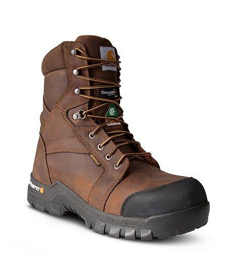 0332a9e515a Men's 8'' Composite Toe Composite Plate Leather Flex Work Boots
