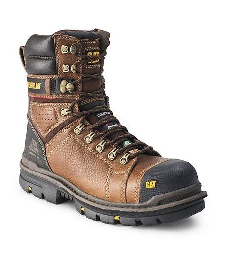 67e766153cf Men's 8'' Hauler Composite Toe Composite Plate Waterproof Work Boots