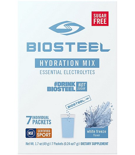 7-Pack Hydration Mix Naturally Sweetened with Stevia - White Freeze