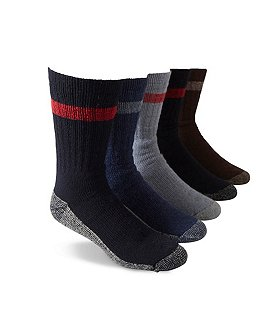 Copper Sole Men's 5-Pack Work Crew Socks
