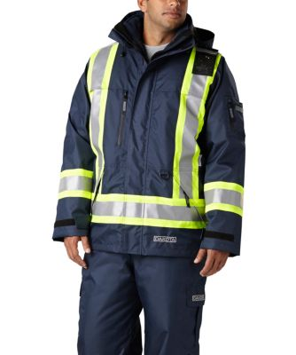 Men's Dakota Hi-Vis HD3 T-MAX Lined 7-in-1 Coat Navy Large / Regular