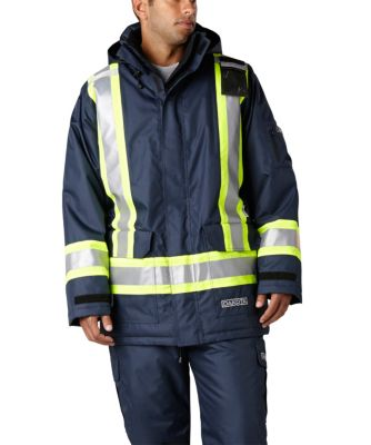 Men's Dakota Hi-Vis HD3 T-MAX Lined Parka Black 3 Extra Large / Regular