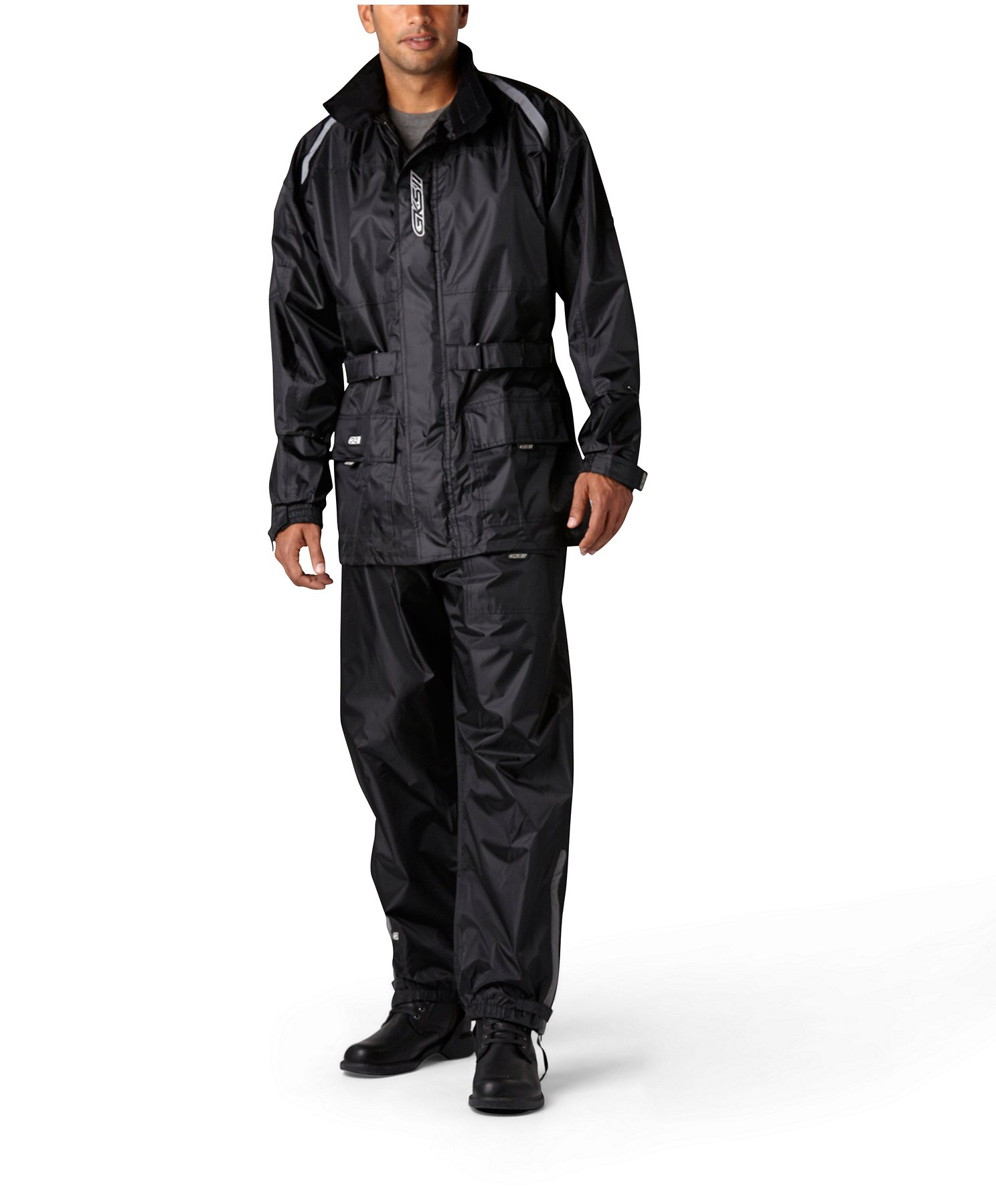 on feet at shop for official first look Men's Two-Piece Motorcycle Rainsuit