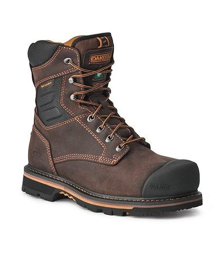 1d7f2de9a2d Men's 8'' Quad Comfort Aluminium Toe Composite Plate Work Boots
