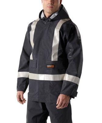 Men's Dakota FR HRC 3 Rain Jacket Black Extra Large / Regular