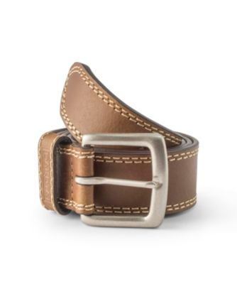 Men's Dakota Contrast Stitch Belt Tan