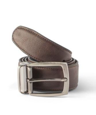 Men's Denver Hayes Pebble Reversible Belt Black/Brown