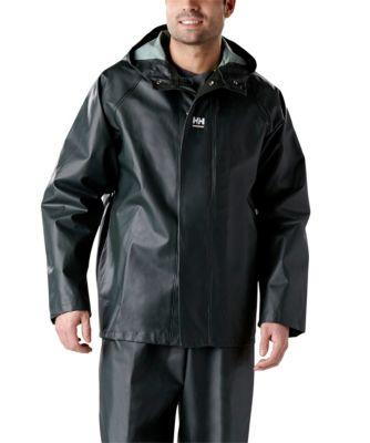Men's Helly Hansen PVC Highliner Jacket - P300 Dark Green Small / Regular