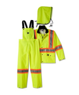 Men's Helly Hansen Waverley Packable Hi-Vis Storm Suit - R803 Fluorescent Yellow Extra Large / Regular