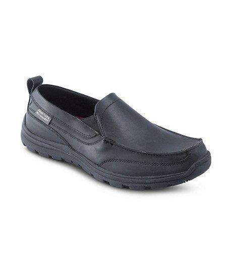 best loved 96c99 321de Skechers Work Men s Hobbes Non-Safety Slip-Resistant Slip-On Shoes