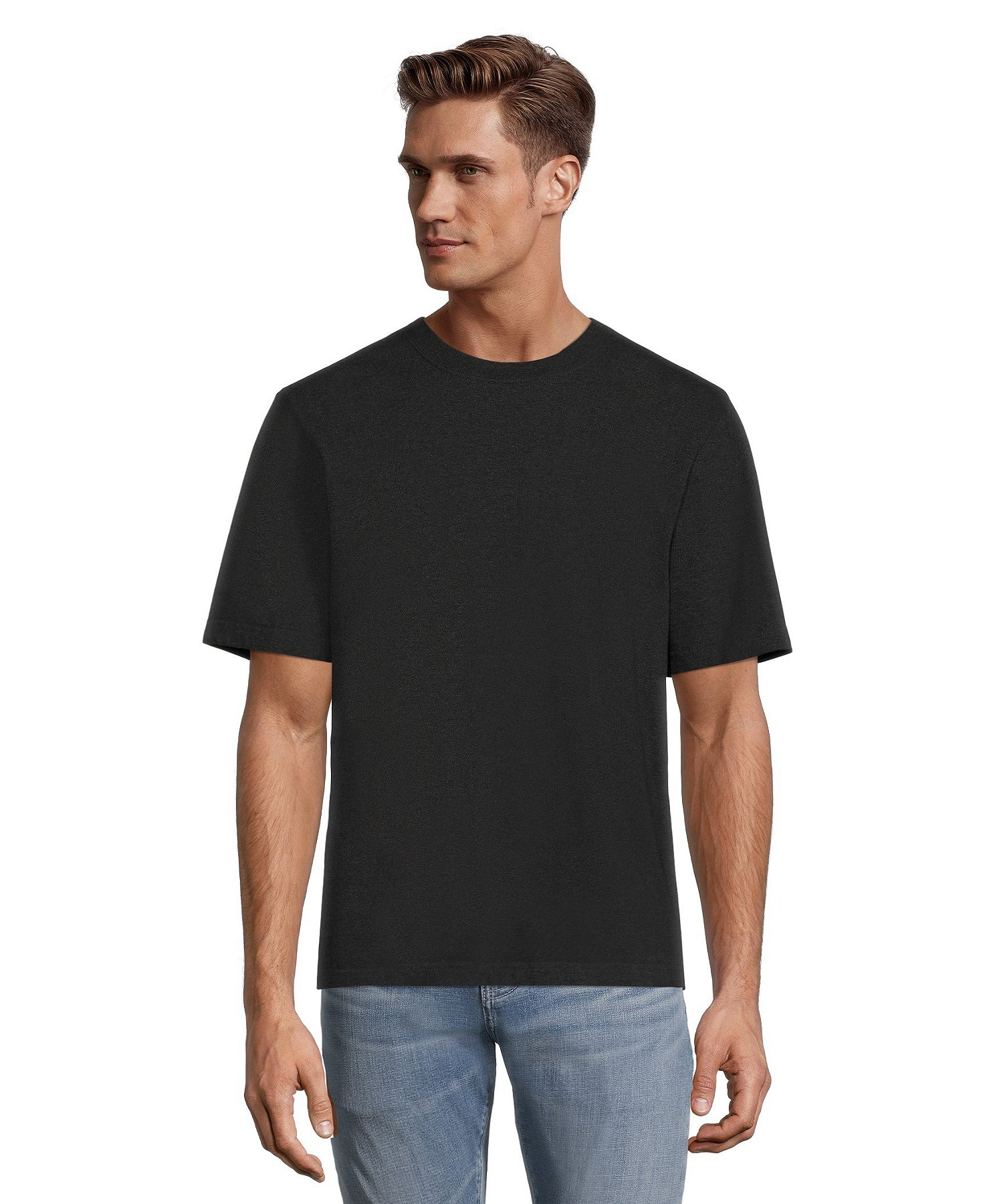 women 100% high quality outlet store Men's 50 Wash Crew Neck T-Shirt