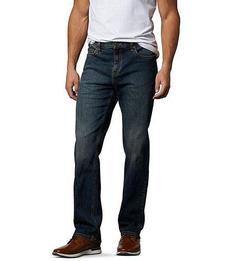 Men's FLEXTECH Classic Fit Straight Leg Stretch Dark Tint Jeans
