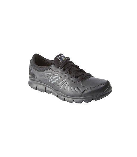 0672af07e286 Skechers Work Women s Eldred Slip-Resistant Lace-Up Shoes