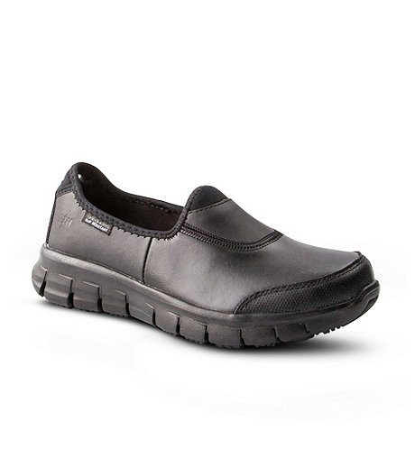 88b749c82cc37 Skechers Work Women's Sure Track Non-Safety Slip-Resistant Slip-On Shoes