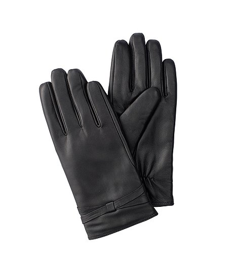 WindRiver T-MAX Lined Leather Gloves With Bow ... 53cd48cef25b