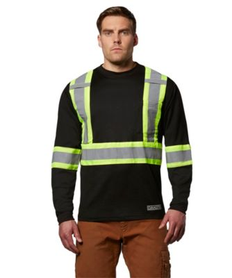 Men's Dakota Long-Sleeve Lined Hi-Vis T-Shirt Black 2 Extra Large / Regular