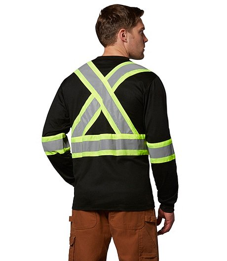 Dakota Men's Long-Sleeve Lined Hi-Vis T-Shirt