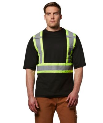 Men's Dakota Short-Sleeve Lined Hi-Vis T-Shirt Black 2 Extra Large / Regular