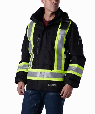 Men's Dakota Hi Vis Waterproof Rip-Stop Jacket Black Small / Regular