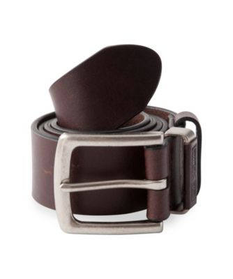 Men's Dakota Leather Embossed Keeper Belt Black